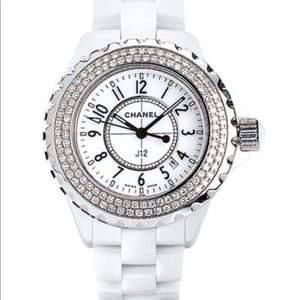 Chanel J12 Diamond White ceramic watch H0967